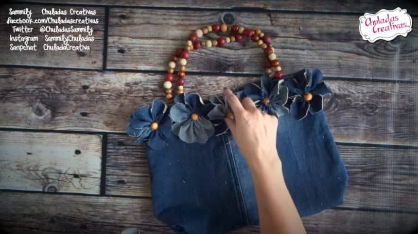 How to make summer bag with denim16