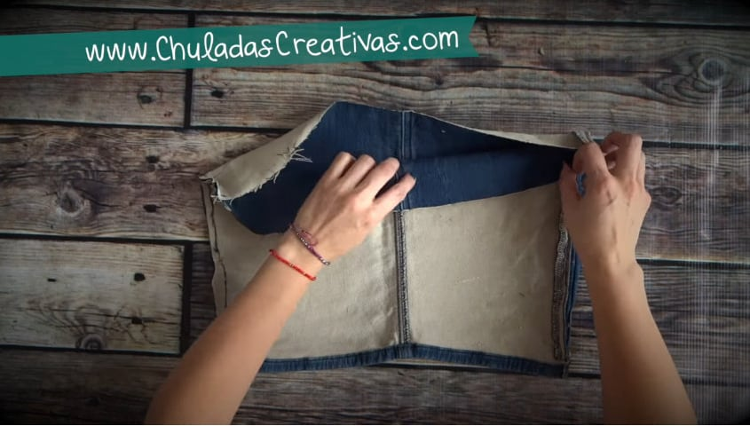How to make summer bag with denim5