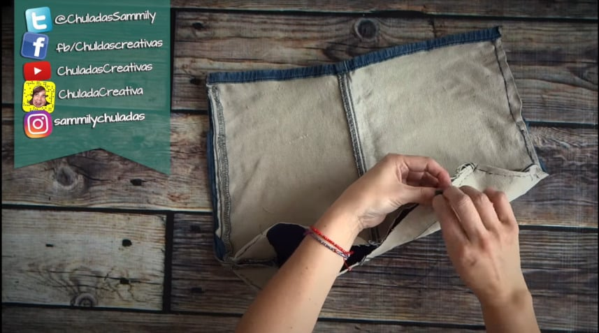How to make summer bag with denim6