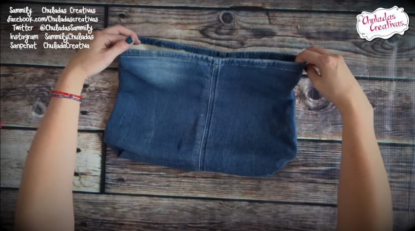 How to make summer bag with denim7