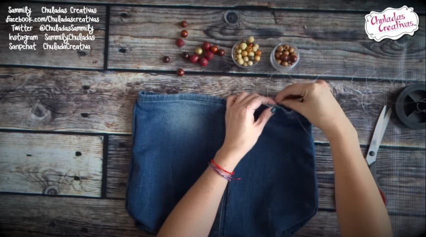 How to make summer bag with denim8