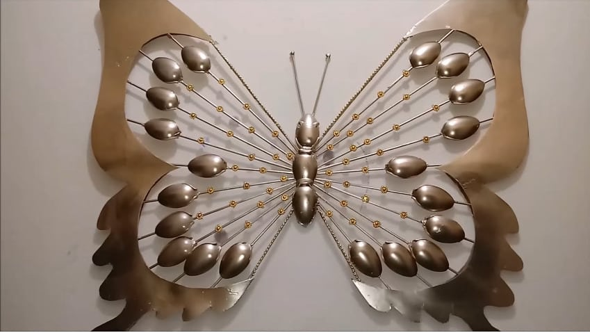 How to make the decorative butterfly wall art22