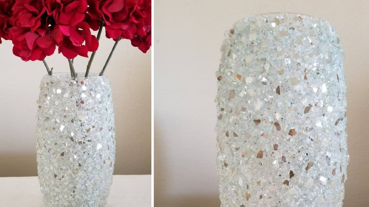 How to make vase from crushed glass1