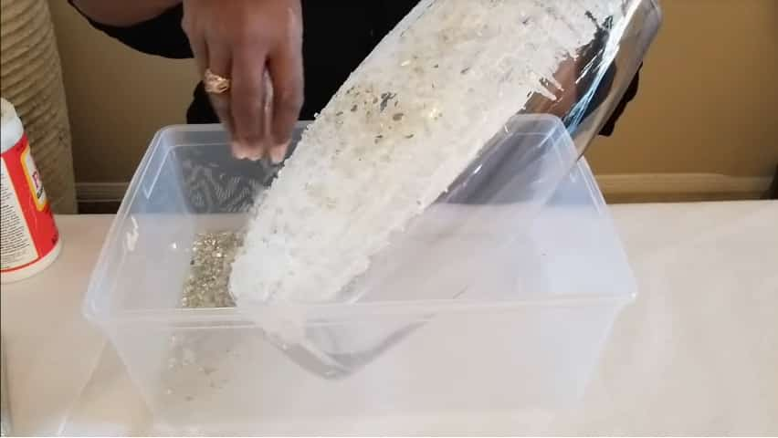 How to make vase from crushed glass4