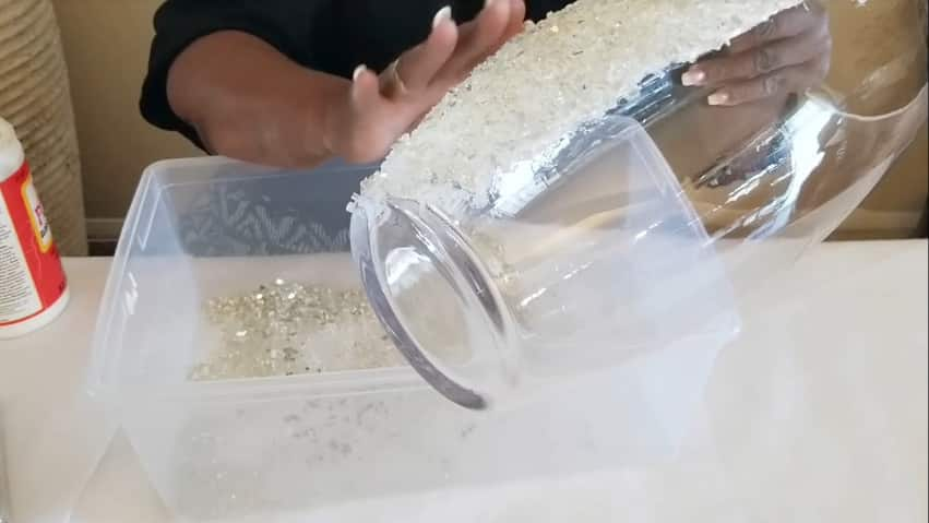 How to make vase from crushed glass6