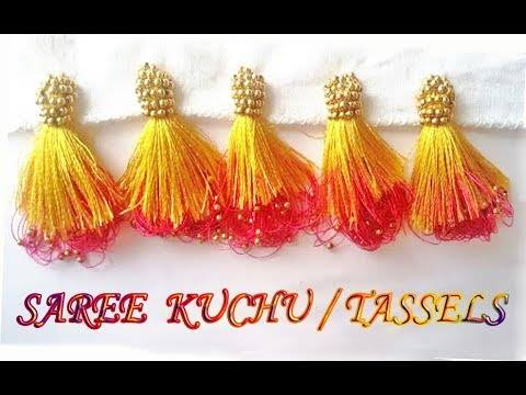 New double colour saree kuchu1