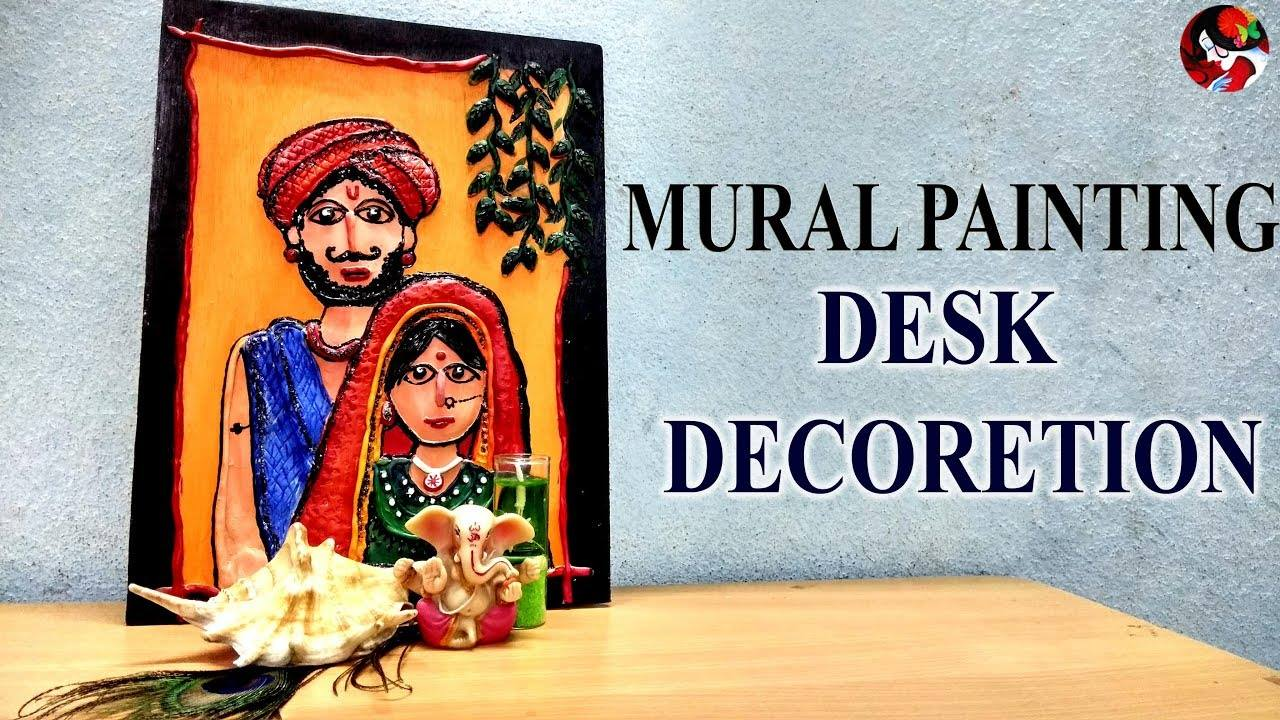 Rajasthani tribal mural painting on plywood1