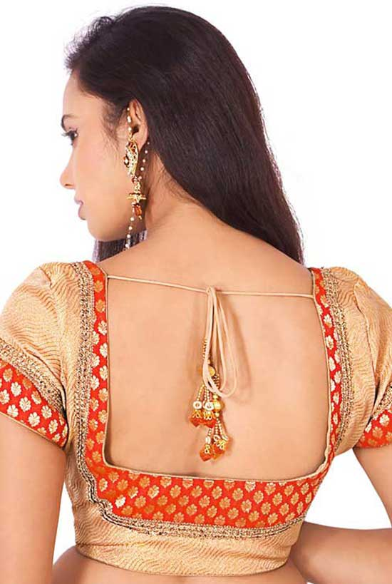 Stylish back hook designs for your Saree blouses1