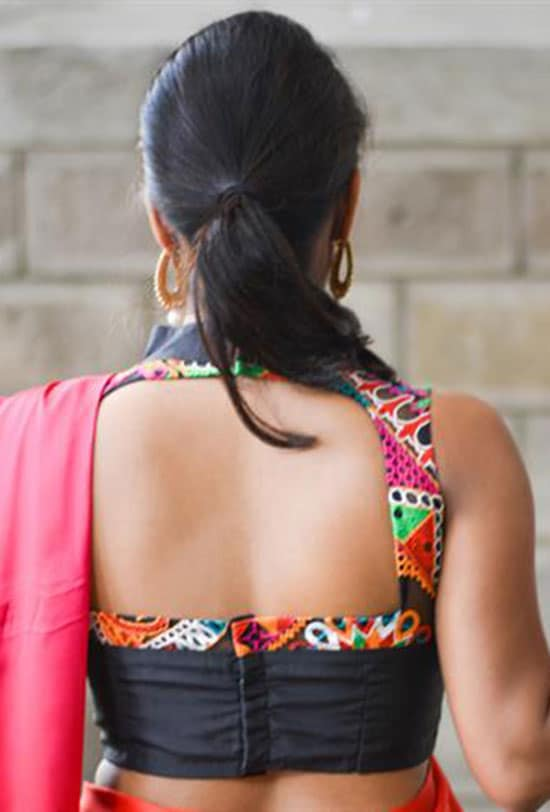 Stylish back hook designs for your Saree blouses10