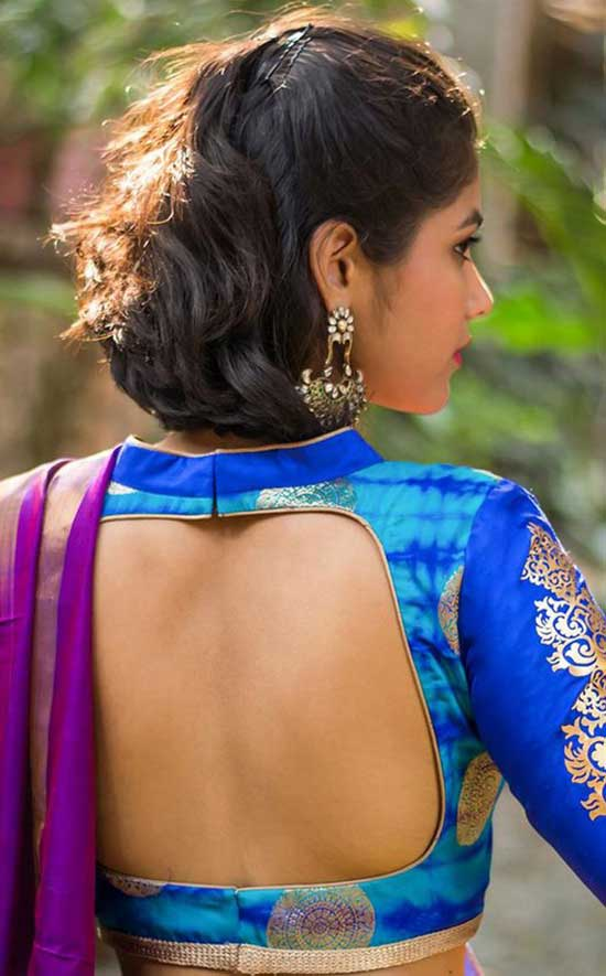 Stylish back hook designs for your Saree blouses14