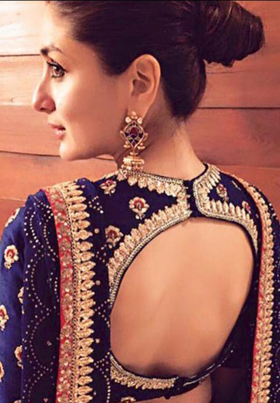 Stylish back hook designs for your Saree blouses16