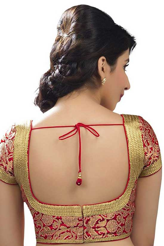 Stylish back hook designs for your Saree blouses17