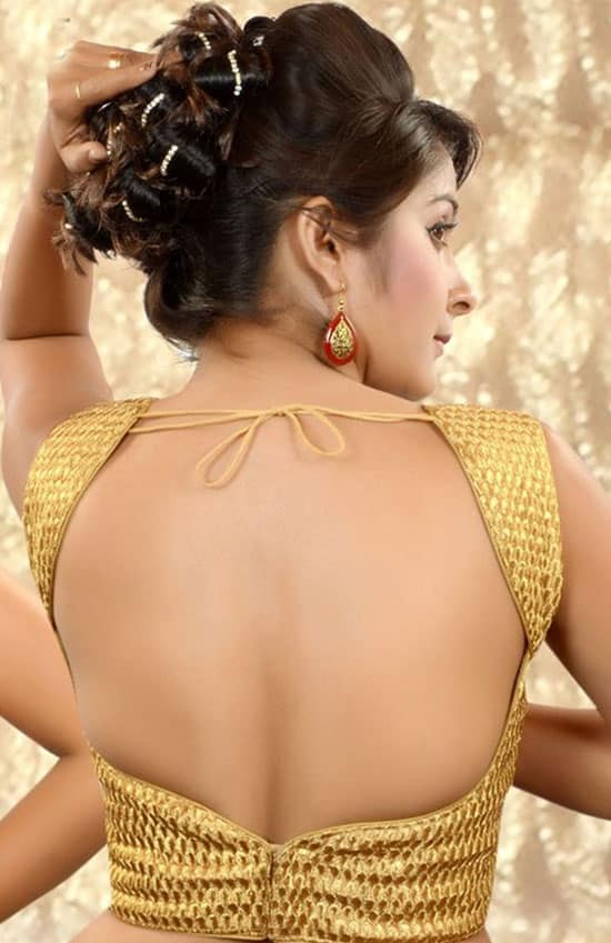 Stylish back hook designs for your Saree blouses18