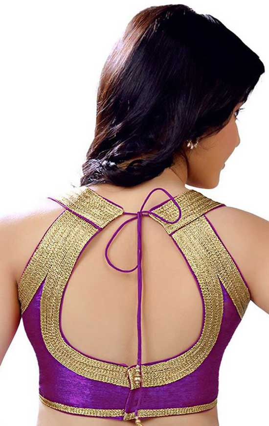 Stylish back hook designs for your Saree blouses19