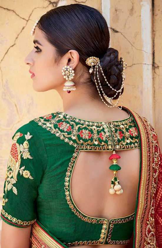 Stylish back hook designs for your Saree blouses2