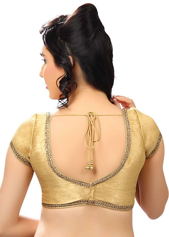 Stylish back hook designs for your Saree blouses20