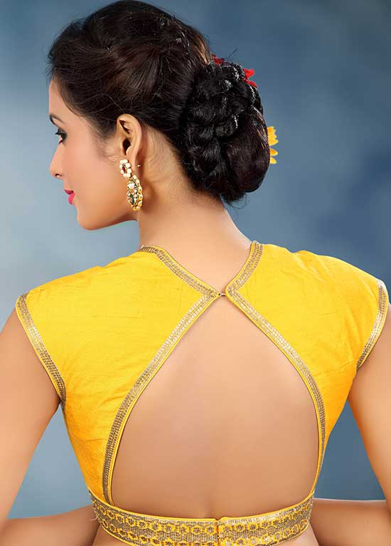 Stylish back hook designs for your Saree blouses6
