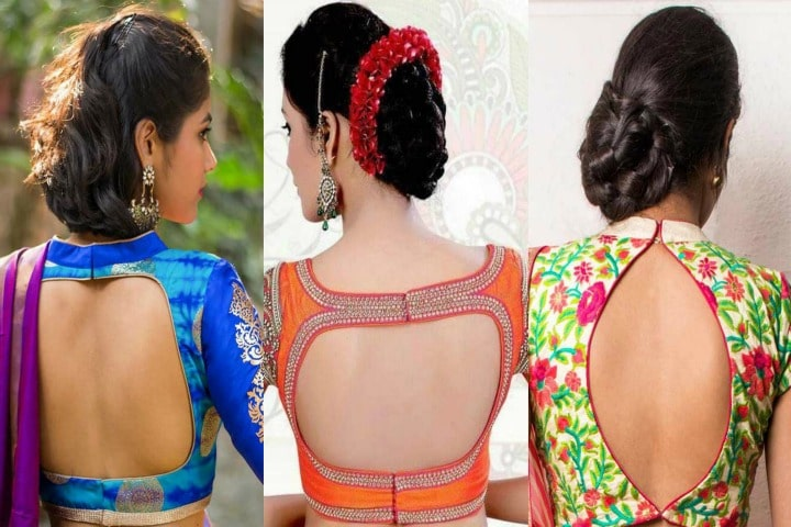 Stylish back hook designs for your Saree blouses9