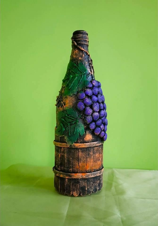 Waste glass bottle decoration Idea1