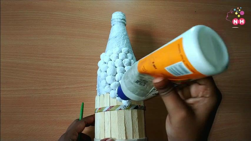 Waste glass bottle decoration Idea11