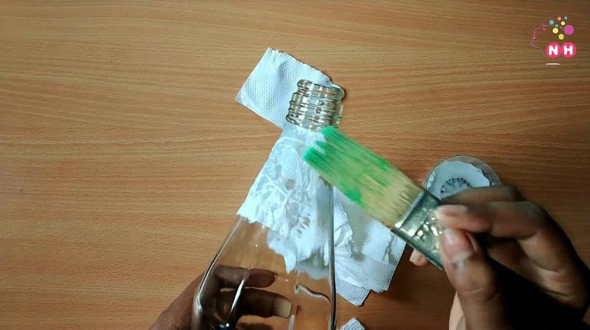 Waste glass bottle decoration Idea2