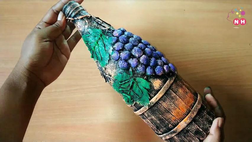 Waste glass bottle decoration Idea23