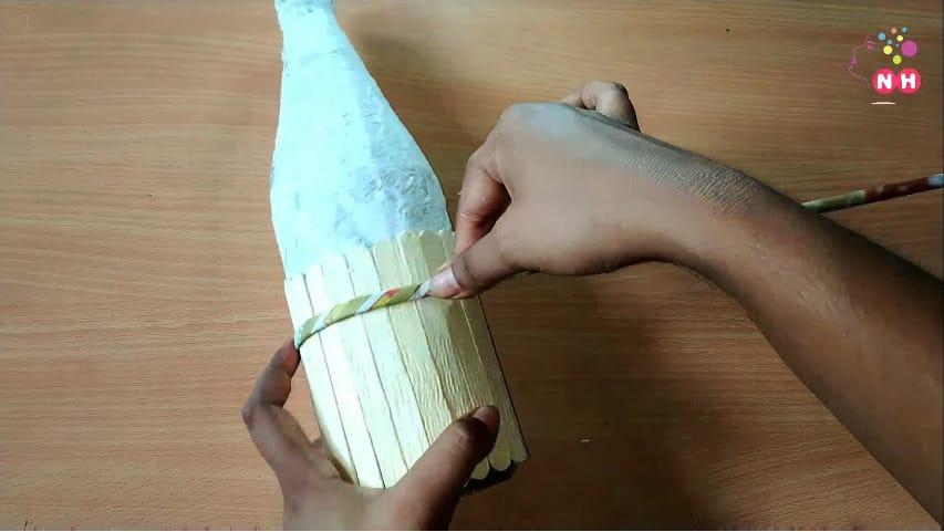 Waste glass bottle decoration Idea5