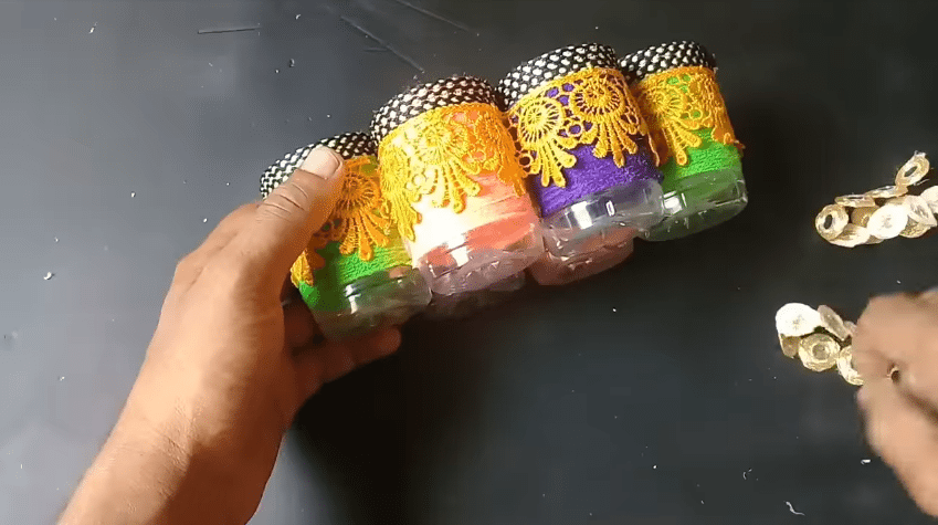 How to make an organizer from plastic bottle13