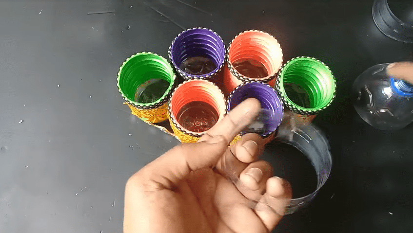 How to make an organizer from plastic bottle16