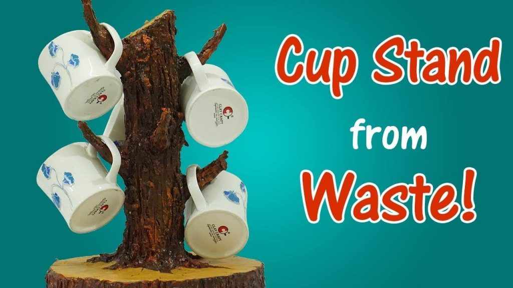 How to make cup stand from waste16