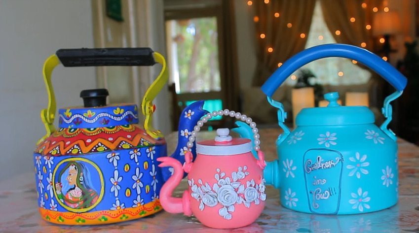 How to make decorative kettle using waste plastic21