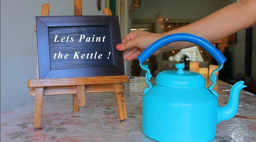 How to make decorative kettle using waste plastic4