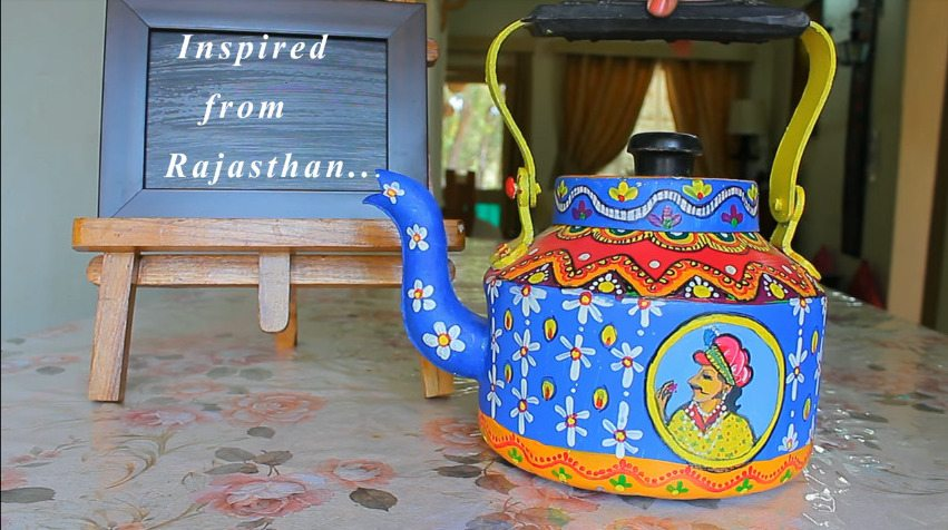 How to make decorative kettle using waste plastic7