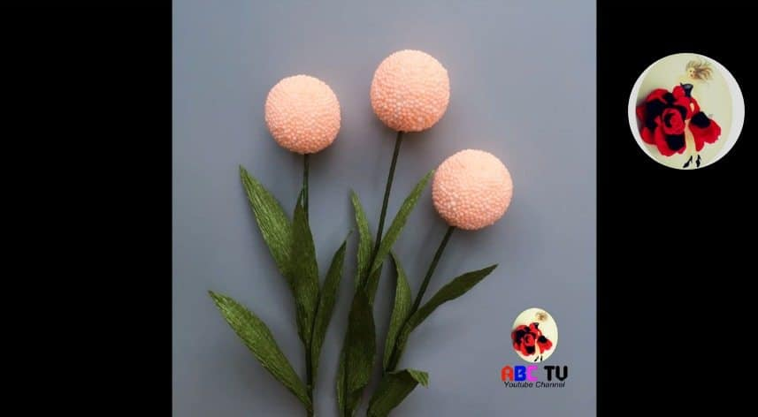 How to make flower from foam beads11