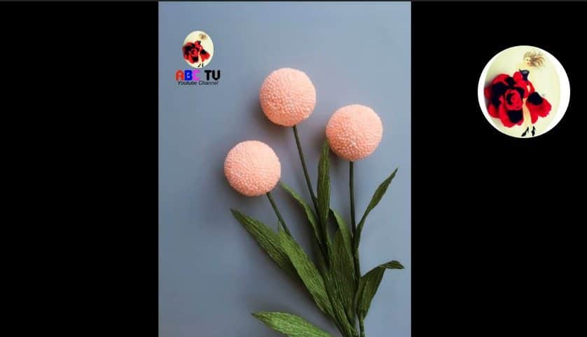 How to make flower from foam beads12
