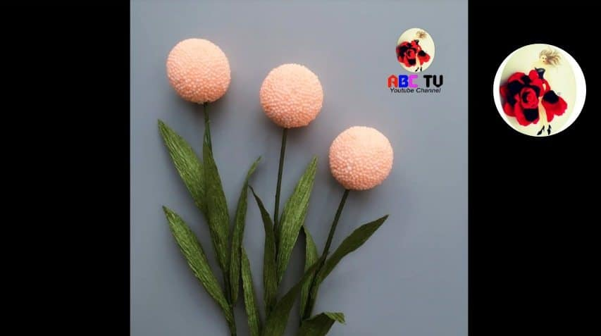 How to make flower from foam beads13