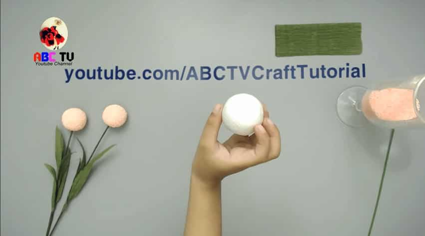How to make flower from foam beads2