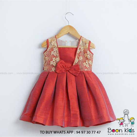 Designer baby frock cutting and stitching