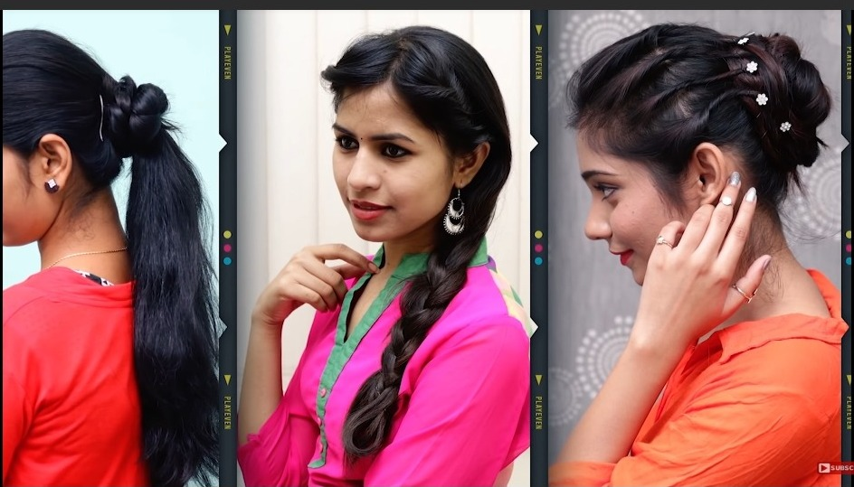 Different Hairstyle For Long Hair Girls Get Easy Art And Craft Ideas