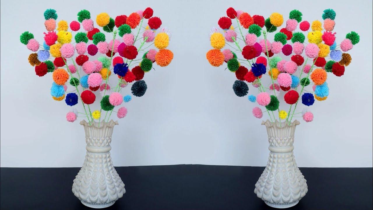 Easy Way to Make Pom-Pom Flowers
