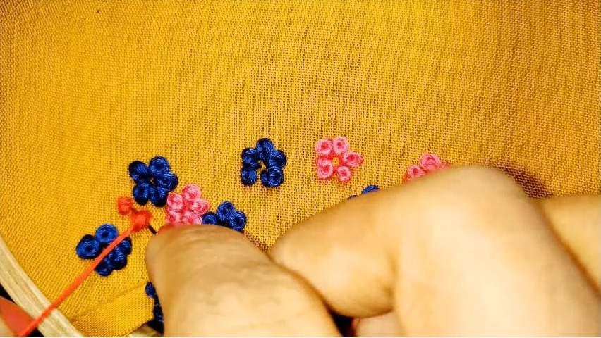 Elegant hand embroidery neck design