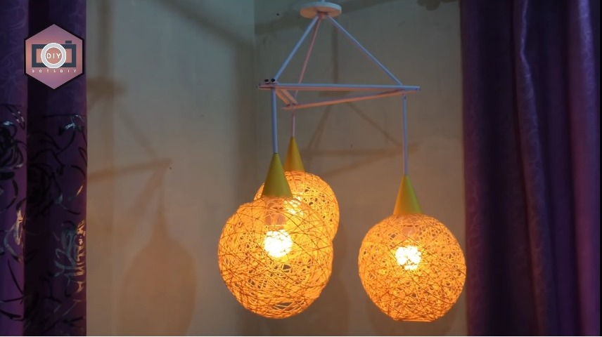 How to Make a Homemade Wrapped Balloon Lampshade