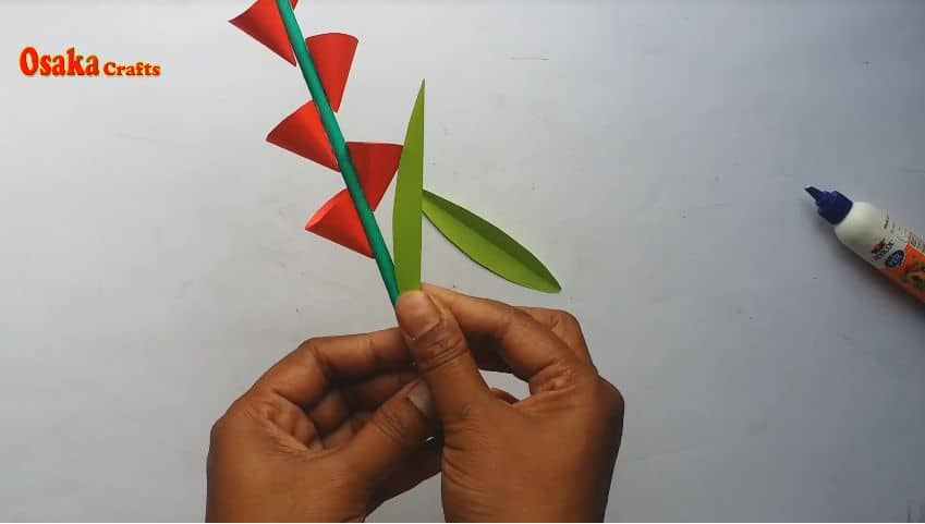 How to make beautiful paper flower stick for room decoration