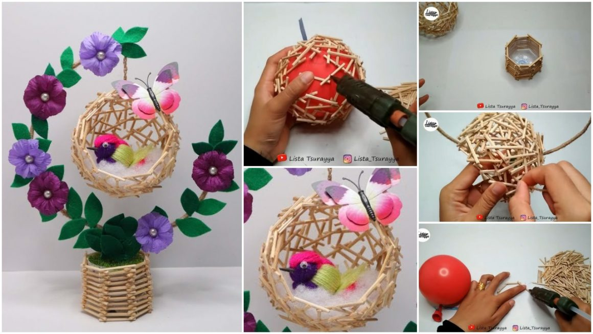 How to make birdcage table decor