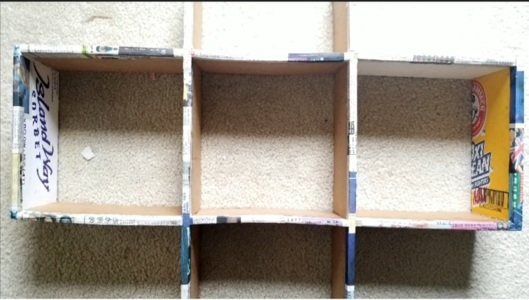 How to make cardboard shelves from waste materials