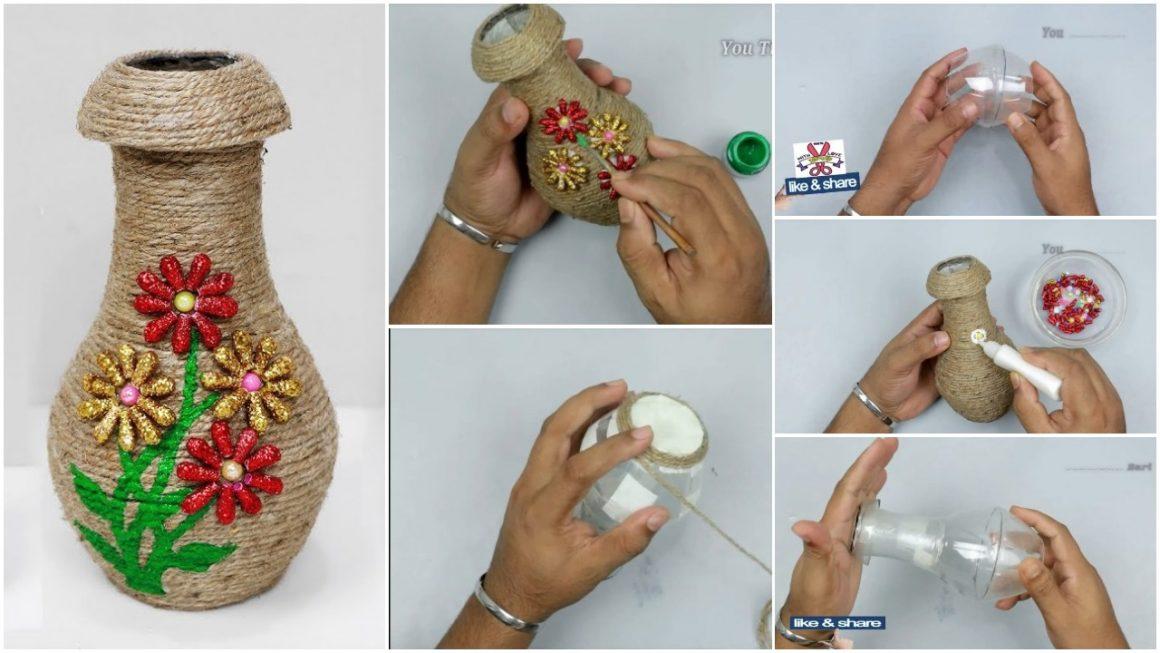 How to make easy flower vase