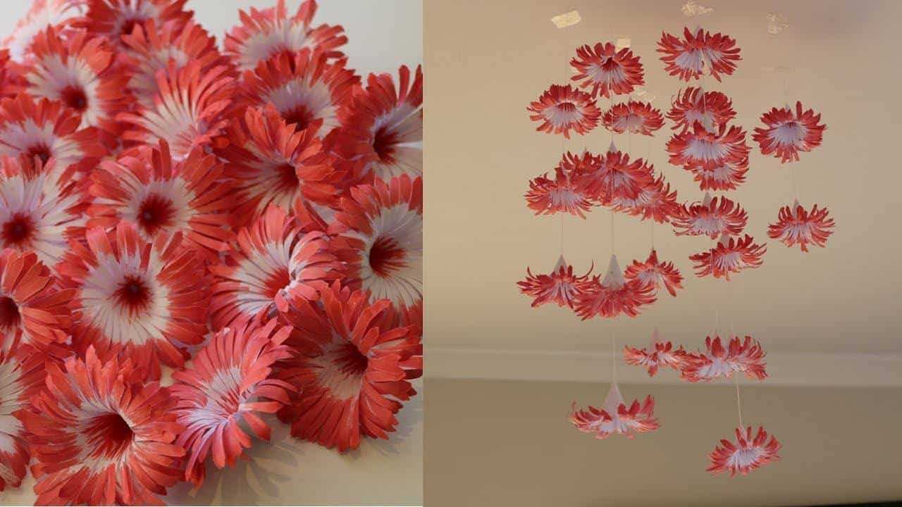 How to make hanging flowers
