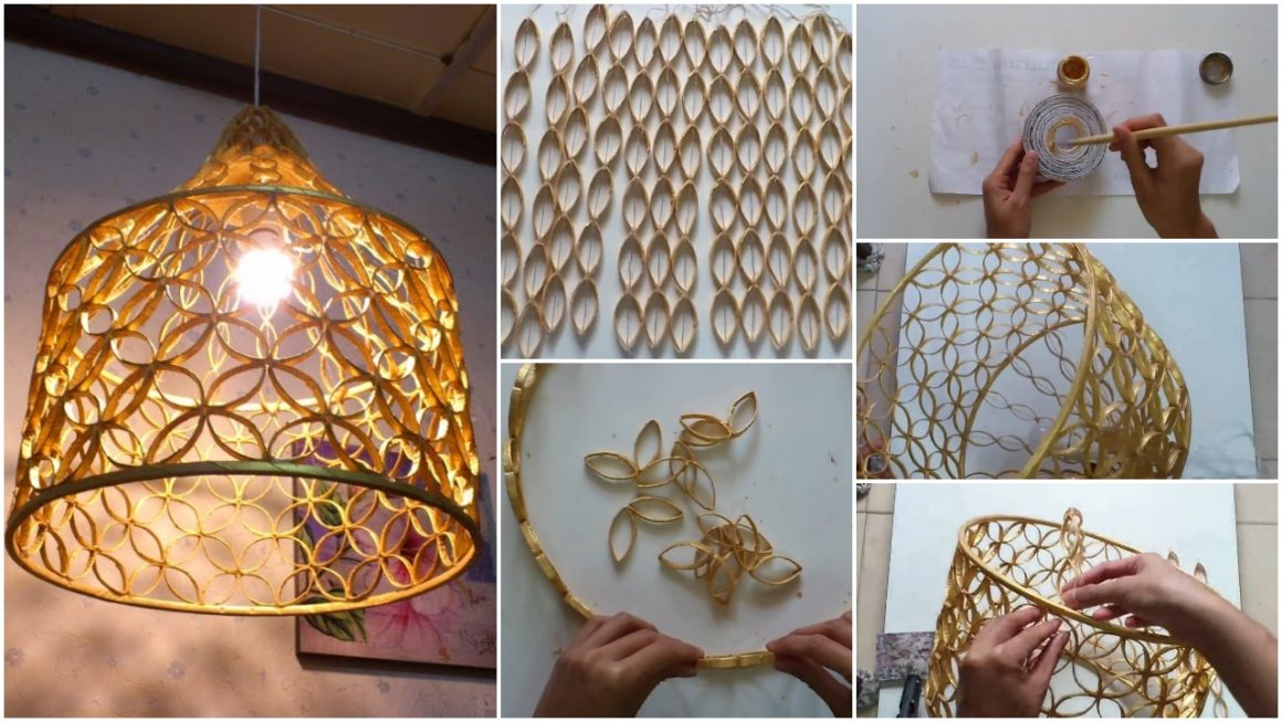 Lampshade from reused paper