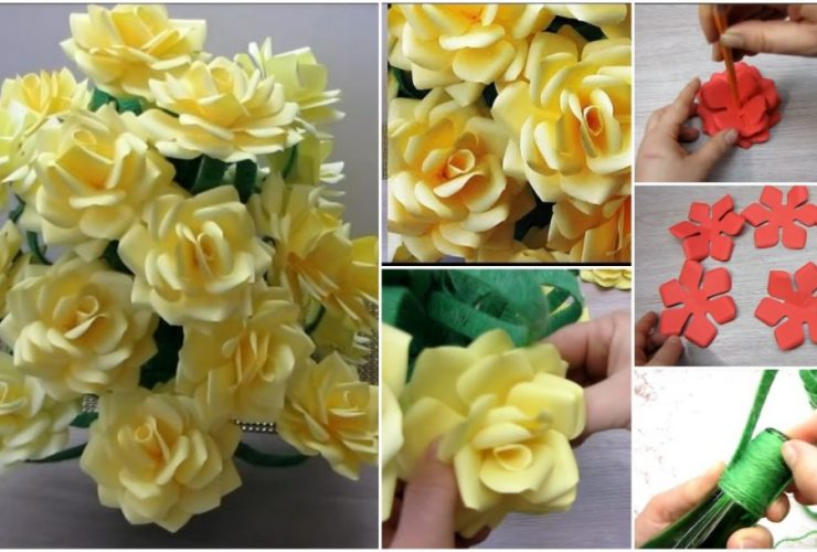 Diy Paper Flower Archives Get Easy Art And Craft Ideas
