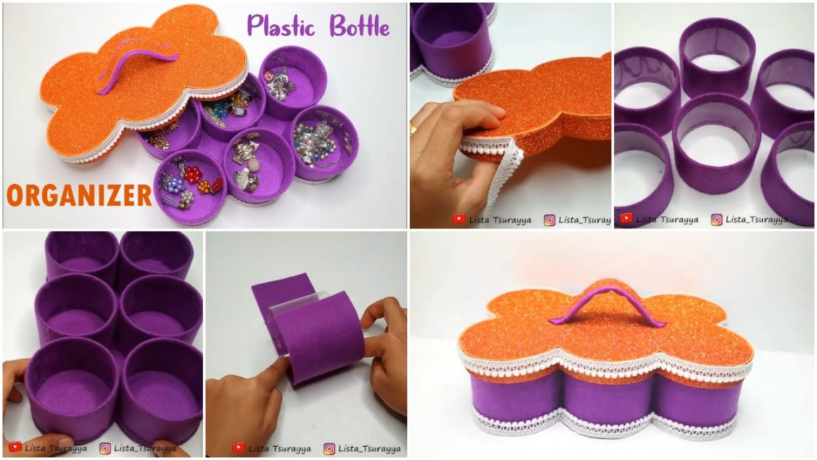 Organizer from waste bottles